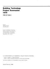 Building Technology Project Summaries  1979 PDF