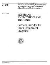 Veterans' Employment and Training: Services Provided by Labor Department Programs