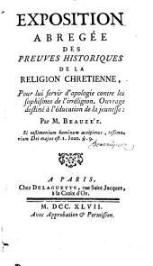 Exposition abrégée des preuves historiques de la religion chrétienne