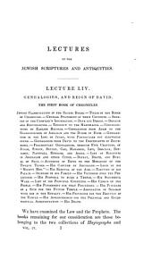 Academical lectures on the Jewish scriptures and antiquities: Volume 4