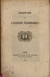 Quelques mots sur l'Alliance chrétienne universelle
