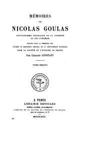 Mémoires de Nicolas Goulas: 1643-1648