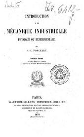 Introduction à la mécanique industrielle physique ou expérimentale