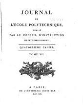 Journal de l'École polytechnique: Volume7,Numéro14