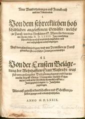 Neue Wunderzeitungen aus Frankreich und den Niderlanden von dem ... Gewässer, welches zu Pariß den 9. April 1579 ... eingefallen