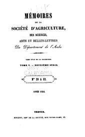 Mémoires de la Société académique d'agriculture, des sciences, arts et belles-lettres du département de l'Aube: Volumes18à19