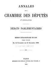 Annales: Débats parlementaires, Volume29