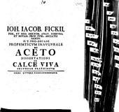 Propempticon inaug. de aceto