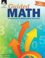 Guided Math  A Framework for Mathematics Instruction Second Edition PDF