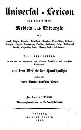 Universal Lexicon der practischen Medicin und Chirurgie PDF