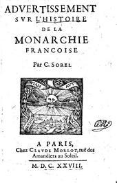 Advertissement sur l'histoire de la monarchie francoise