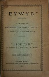 """""""Bywyd."""": (Pryddest.) Yr ail oreu yn Eisteddfod Genedlaethol cymru, 1881 a gynaliwyd yn Merthyr Tydfil"""