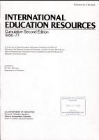 International Education Resources PDF