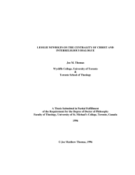 The Centrality of Christ In The Theology of Lesslie Newbigin PDF