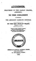 Addresses     to the children attending the Aberdeen Sabbath Schools PDF