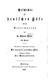 Geschichte der deutschen höfe seit der reformation: Band 44
