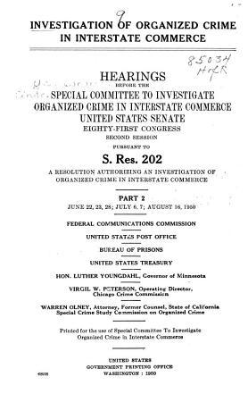 Investigation of Organized Crime in Interstate Commerce PDF