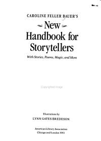 Caroline Feller Bauer s New Handbook for Storytellers PDF