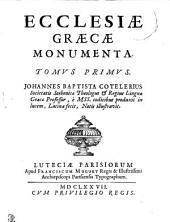 Ecclesiae graecae monumenta. Tomus primus [-tertius]