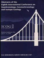 Abstracts of the Eighth International Conference on Geochronology  Cosmochronology  and Isotope Geology PDF