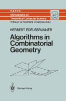 Algorithms in Combinatorial Geometry PDF