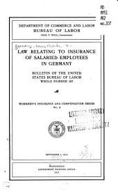 Law Relating to Insurance of Salaried Employees in Germany ...