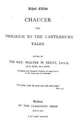 Chaucer: The Prologue to the Canterbury Tales