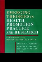 Emerging Theories in Health Promotion Practice and Research PDF