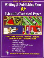Writing Your A  Scientific Technical Paper PDF