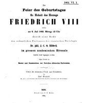 Ueber die deutschen Fried- und Freistätten