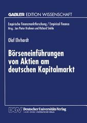 Börseneinführungen von Aktien am deutschen Kapitalmarkt