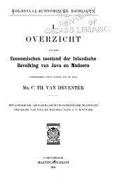 Koloniaal-economische bijdragen: Volumes 1-3