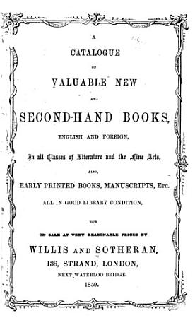 A Catalogue of Valuable New and Second hand Books PDF