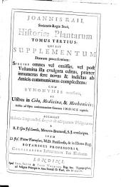 Historia plantarum generalis: Volume 3