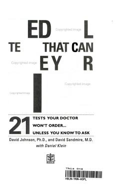 Medical Tests That Can Save Your Life PDF