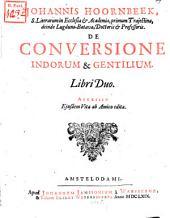 De conversione Indorum et Gentilium