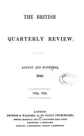 The British Quarterly Review: Volume 8