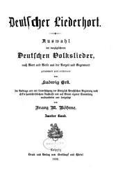 Deutscher liederhort: Band 2