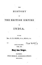 The History of the British Empire in India: Vol. 3, Volume 2