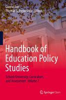 Handbook of Education Policy Studies PDF
