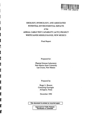 White Sands Missile Range  Aerial Cable Test Capability  ACTC  PDF