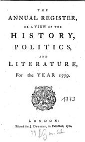 The Annual Register: World Events .... 1779. - 1780