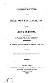 Observations on the Religious Peculiarities of the Society of Friends