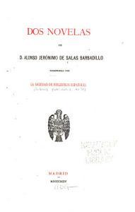Libros publicados  Salas Barbadillo  A J  de  Dos novelas     1894 PDF