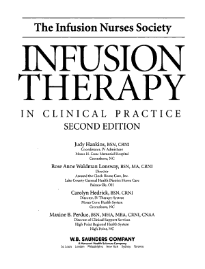 Infusion Therapy in Clinical Practice PDF