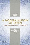 A Modern History of Japan  International Edition