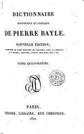 Dictionnaire historique et critique de Pierre Bayle, 14