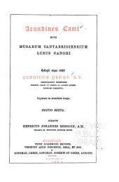 Arundines cami sive Musarum Cantabrigiensium lusus canori ...