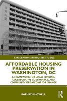 Affordable Housing Preservation in Washington  DC PDF