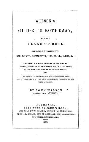 Wilson s Guide to Rothesay and the Island of Bute